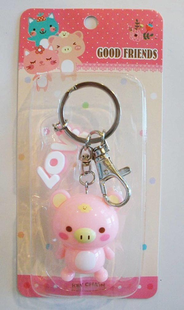 Adorable-Pink-Chubby-Pig-Keychain-Key-Ring