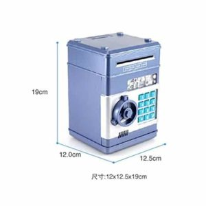 Ainypiggy-bank Code Electronic Money Bank Piggy Money Banks Coin Saving Banks ATM Safty Banks,blue