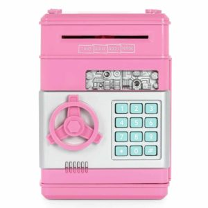 Ainypiggy-bank Code Electronic Money Bank Piggy Money Banks Coin Saving Banks ATM Safty Banks,pink