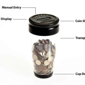 Change Counter Coin Bank for Car Cup Holders – Automatically Totals the Value of U.S. Coins