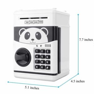 Coolly Cartoon Piggy Bank Password Electronic Money Bank Mini ATM Money Saving Banks Coin Saving Boxes Cash Coin Can for Kids Toys Birthday Gifts Automatic Volume Money