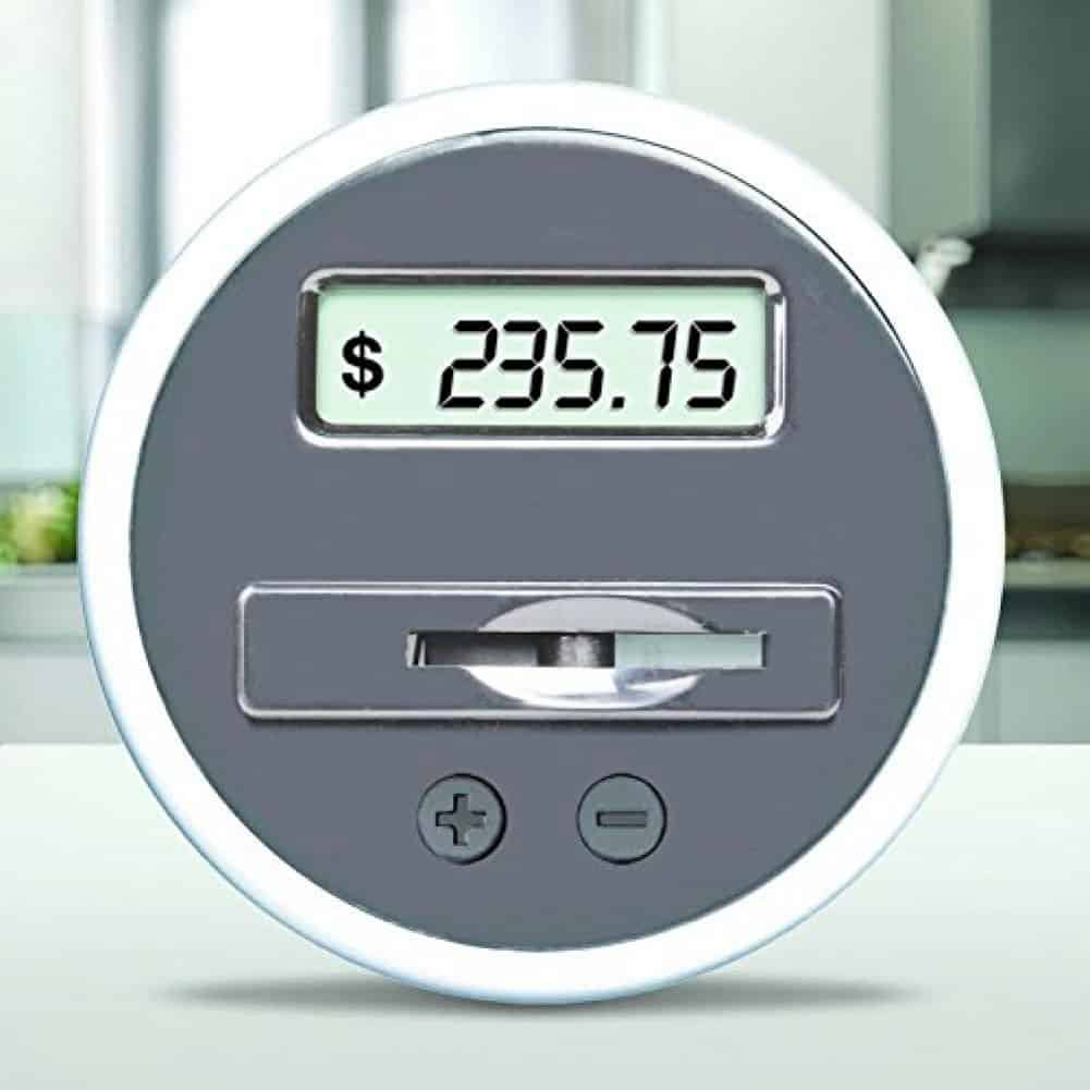 Digital Coin Tumbler - Coin Counter Change Organizer fits Car Cup Holders Cars - Automatically TotalDigital Coin Tumbler - Coin Counter Change Organizer fits Car Cup Holders Cars - Automatically Totals the Value of U.S. Coinss the Value of U.S. Coins