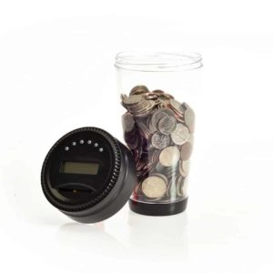 Digital Coin Tumbler - Coin Counter Change Organizer fits Car Cup Holders Cars - Automatically Totals the Value of U.S. Coins