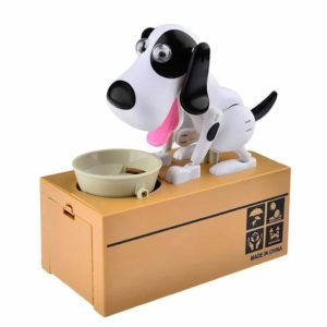 LOBZON Automated Puppy Stealing Coin Bank, Money Box Us Seller
