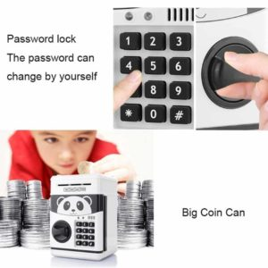New Style Money Saving Box Cash Coin Can Safe ATM Bank Novelty Tin Birthday Gift(White)