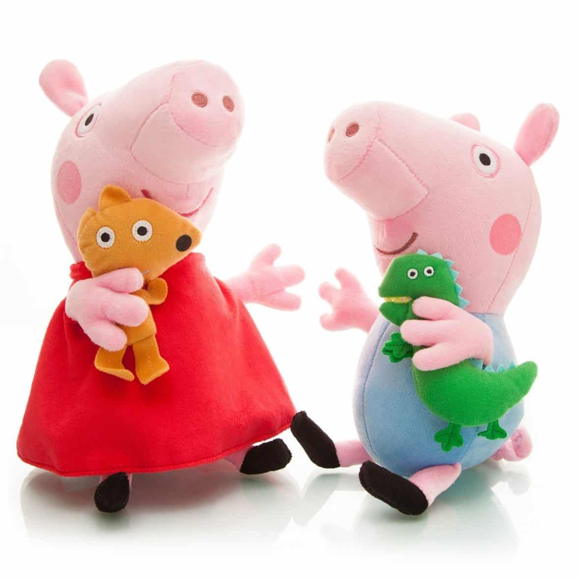 Peppa Pig Plush Toy Peppa & George 2pcs 11-13 Large Size