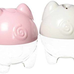 The Digi-Piggy Digital Coin Counting Bank - 2 Pack (1 Pink and 1 White)