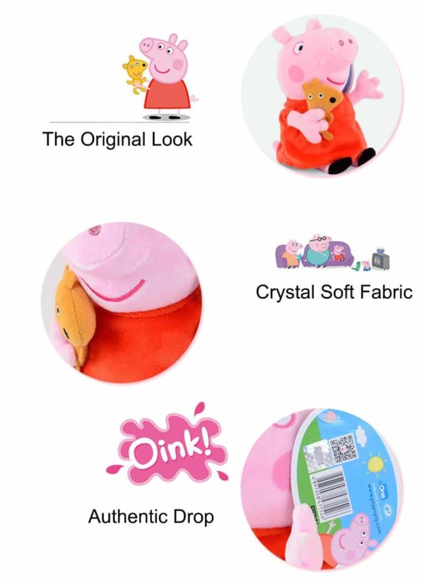 Trans-toys Crystal Eco Smooth & Soft PP Cotton Kids Children Entertainment Hobby Playsets Puppet Peppa Pig Plush Doll Toys