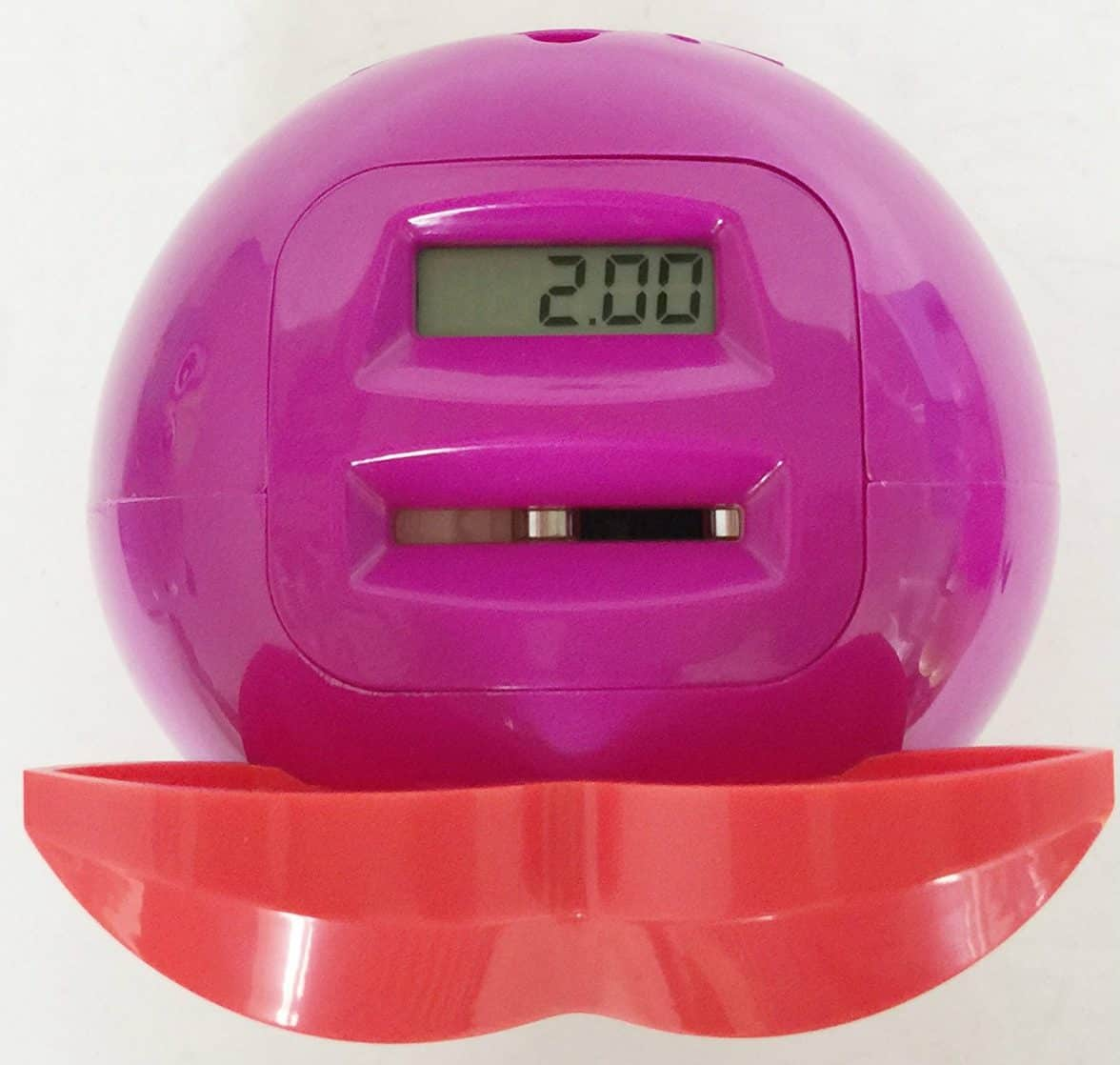 UK STERLING COIN SMART PIGGY BANK DIGITAL COIN BANK AUTOMATICAL COUNTING LCD SCREEN MONEY BOX JAR OWL SHAPE (PURPLE) by BUDABASE