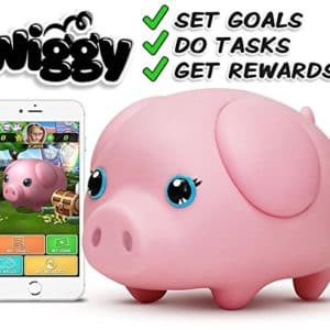 Wiggy Piggy Bank (Pinky) Smart Speaking Piggy Bank and Task Tracker