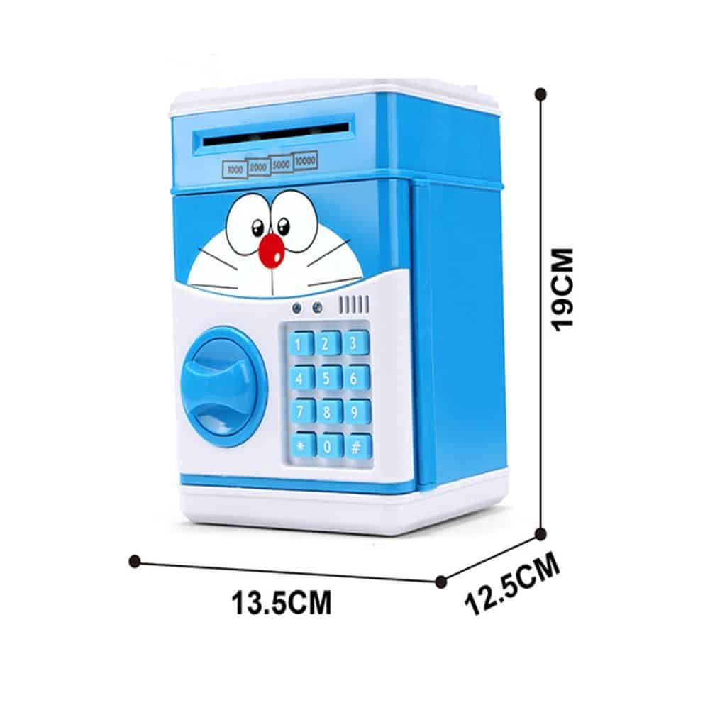Electronic ATM Piggy Banks Save Money Coin Bank Coin Box With Lock & Secret  Code To Unlock for Password Great Gift Toy for Children Kids (Viking)
