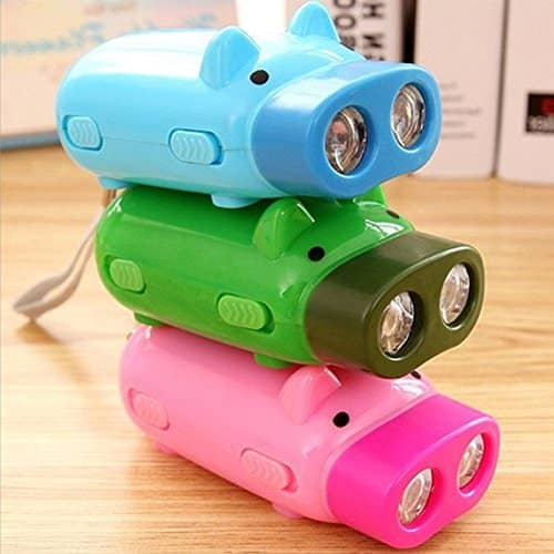 Creative LED Animal Headlights Torches Children Outdoor Camping Flashlight